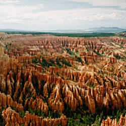 High angle view of rock formations, Bryce Point, Bryce Canyon National Park, Utah, USA
