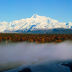 Snowcapped mountains at dawn, Alaska Range, Denali National Park, Alaska, USA