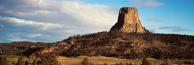 Rock formation, Devil's Tower, Devils Tower National Monument, Wyoming, USA