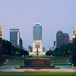War memorial in a city, Cenotaph Square, Indianapolis, Marion County, Indiana, USA