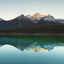 Mountain range at the lakeside, Lake Herbert, Banff National Park, Alberta, Canada