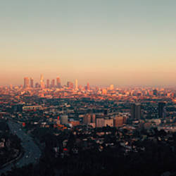 Cityscape viewed from Mulholland Drive, Los Angeles, California, USA