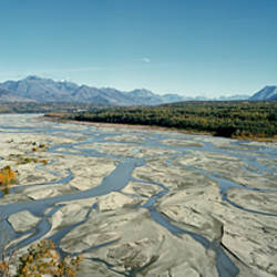 River passing through mountains, Matanuska River, Alaska, USA