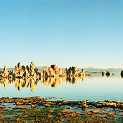 Tufas in a lake, Mono Lake, Mono County, California, USA