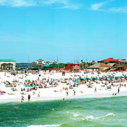 Tourists on the beach, Pensacola, Escambia County, Florida, USA