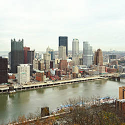 High angle view of a city, Pittsburgh, Allegheny County, Pennsylvania, USA