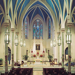 Interiors of a cathedral, St. Mary's Cathedral, Peoria, Illinois, USA