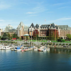 High angle view of a harbor, Victoria Harbour, Victoria, British Columbia, Canada