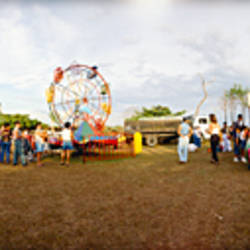 Tourists at a carnival, Cobano, Costa Rica