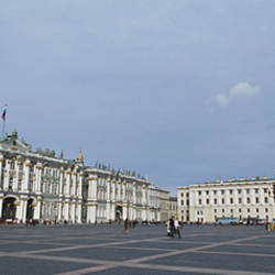 Column in front of a museum, State Hermitage Museum, Winter Palace, Palace Square, St. Petersburg, Russia