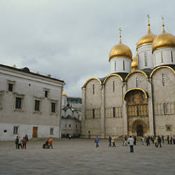 Low angle view of a cathedral, Cathedral of the Dormition, Kremlin, Moscow, Russia