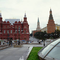 Museum at a town square, Red Square, State Historical Museum, Moscow, Russia