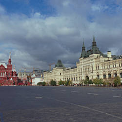 Road leading to the Red Square, State Historical Museum, Kremlin, Moscow, Russia