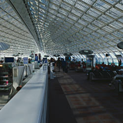 Interiors of an airport, Charles De Gaulle International Airport, Paris, France