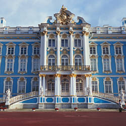 Facade of a palace, Catherine Palace, Pushkin, St. Petersburg, Russia