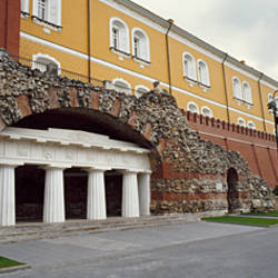 Entrance of a building, Kremlin Wall, Kutafya Tower, Moscow, Russia