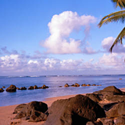 Rocks on the beach, Anini Beach, Kauai, Hawaii, USA