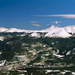 High angle view of a city in a valley, Breckenridge, Colorado, USA