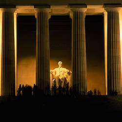 Lincoln Memorial illuminated at night, Washington DC, USA