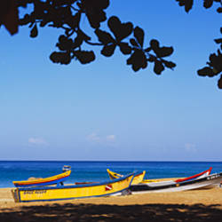 Boats on the beach, Aguadilla, Puerto Rico