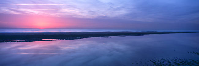Sunrise over the sea, Nordwijk, Netherlands