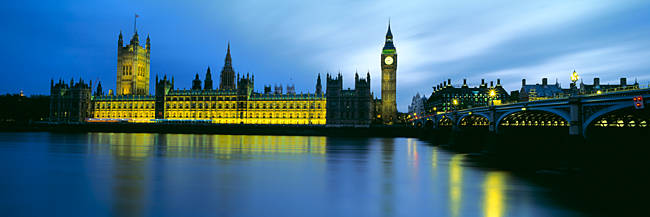 Buildings at the waterfront, Big Ben, Houses of Parliament, City Of Westminster, London, England
