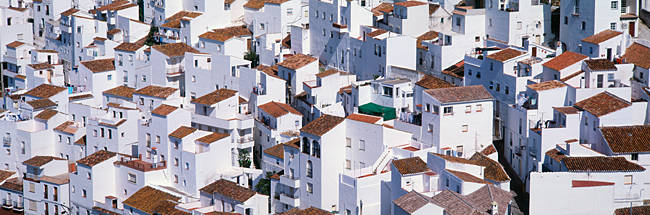 High angle view of a village, Casares, Andalusia, Spain