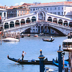 Bridge across a river, Rialto Bridge, Grand Canal, Venice, Italy