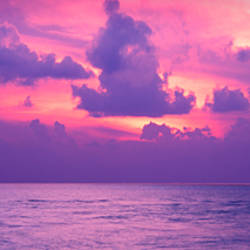 Sunset over the sea, Maldives