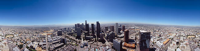 360 degree view of a city, City Of Los Angeles, Los Angeles County, California, USA