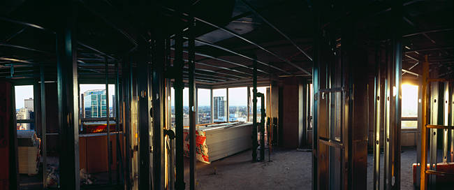 Interiors of an under construction building, Chicago, Cook County, Illinois, USA