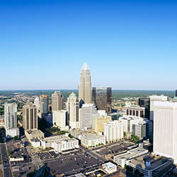 Aerial view of a city, Charlotte, Mecklenburg County, North Carolina, USA