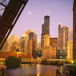 Buildings at the waterfront, Chicago, Cook County, Illinois, USA