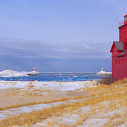 Lighthouse at the lakeside, Lake Michigan, Holland, Michigan, USA