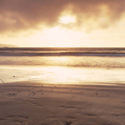 Sunset over the sea, Whitesand Bay, Pembrokeshire, Wales