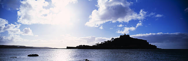 Island in the sea, St. Michael's Mount, Mount's Bay, Penzance, Cornwall, England