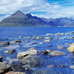 Rocks on the beach, Elgol Beach, Elgol, Cuillin Hills, Isle Of Skye, Scotland