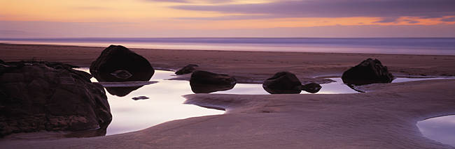 Rocks on the beach, Sandymouth Bay, Bude, Cornwall, England