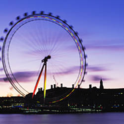 Ferris wheel in a city, Millennium Wheel, Thames River, London, England