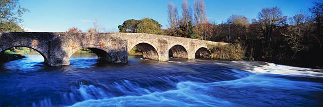 Bridge across a river, Bickleigh Bridge, River Exe, Bickleigh, Mid Devon, Devon, England