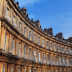 Low angle view of a historical building, The Circus, Bath, Somerset, England