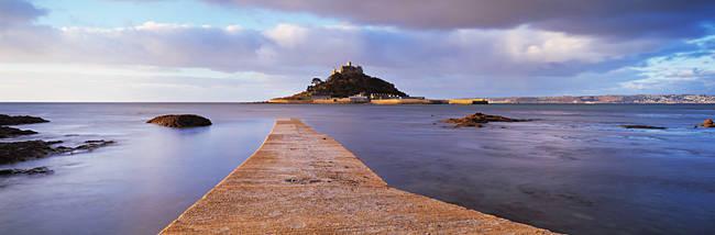 Jetty over the sea, St. Michael's Mount, Marazion, Cornwall, England
