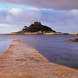 Jetty over the sea, St. Michael's Mount, Marazion, Cornwall, England