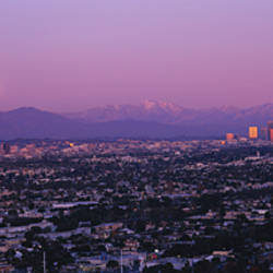 Buildings in a city, Hollywood, San Gabriel Mountains, City Of Los Angeles, Los Angeles County, California, USA