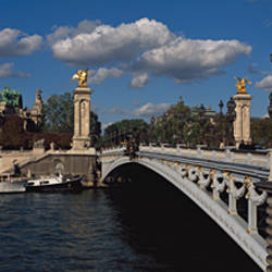 Bridge across a river, Pont Alexandre III, Seine River, Paris, Ile-De-France, France