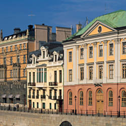 Buildings at the lakeside, Gamla Stan, Stockholm, Sweden