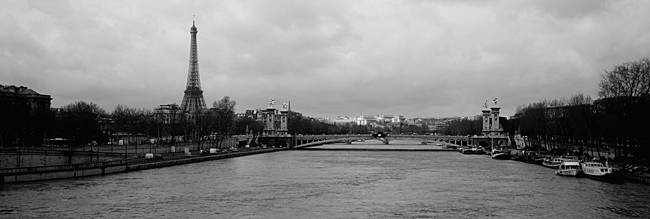 River with a tower in the background, Seine River, Eiffel Tower, Paris, Ile-De-France, France