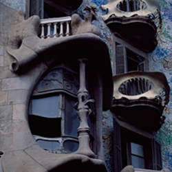 Low angle view of a building, Casa Batllo, Barcelona, Catalonia, Spain