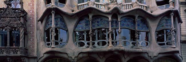 Balcony of a building, Casa Batllo, Barcelona, Catalonia, Spain