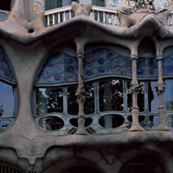 Balcony of a building, Casa Batllo, Barcelona, Catalonia, Spain
